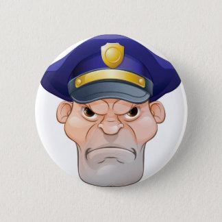 Mean Angry Cartoon Policeman Button