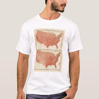 Mean annual temperature, Hypsometric sketch T-Shirt