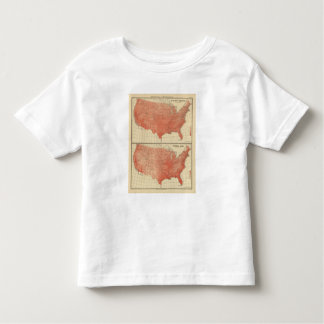Mean annual temperature, Hypsometric sketch Toddler T-shirt