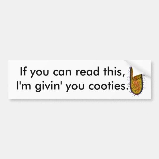 Mean Bacteria Cartoon Character Bumper Sticker