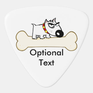 Mean Bad Dog on Bone Guitar Pick