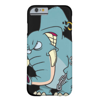 mean badass elephant cartoon barely there iPhone 6 case