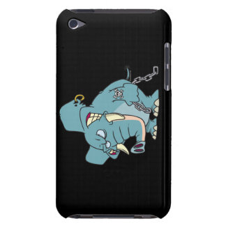 mean badass elephant cartoon barely there iPod cover