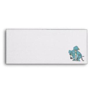 mean badass elephant cartoon envelopes