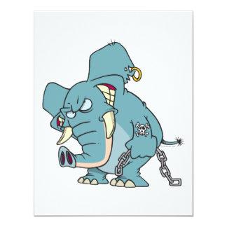 mean badass elephant cartoon custom announcement