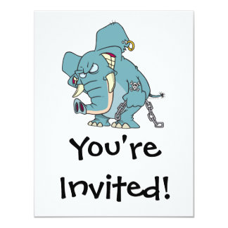 mean badass elephant cartoon personalized announcements