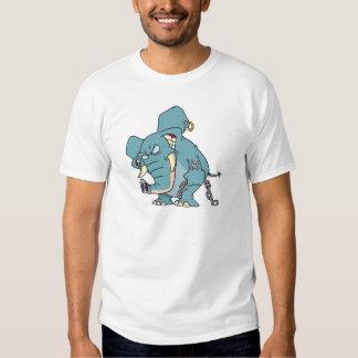 mean badass elephant cartoon t-shirt