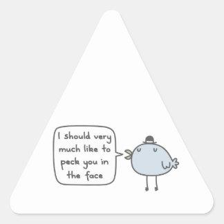 Mean Bird Triangle Sticker