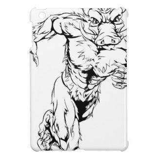 Mean boar character iPad mini case