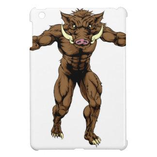 Mean boar mascot iPad mini cases