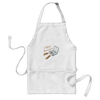 Mean Business Adult Apron