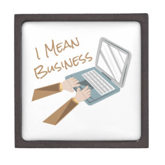 Mean Business Keepsake Box