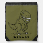 Mean Cool Dinosaur T Rex Cartoon Name backpack