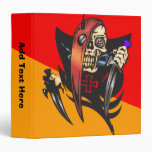 Mean Cyborg Skull 3 Ring Binders