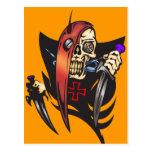 Mean Cyborg Skull Postcard