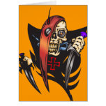 Mean Cyborg Skull Stationery Note Card