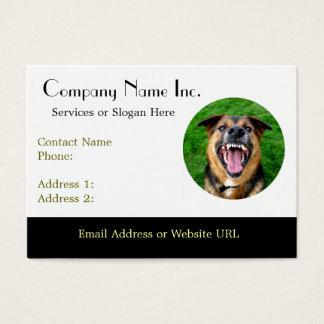 Mean Dog Bares Teeth Business Card