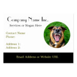 Mean Dog Bares Teeth Large Business Card
