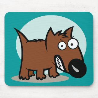 Mean Dog Growling Mouse Pad