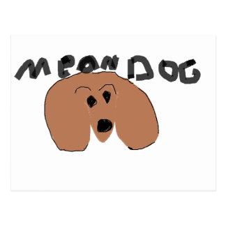 mean dog postcard