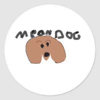 mean dog stickers