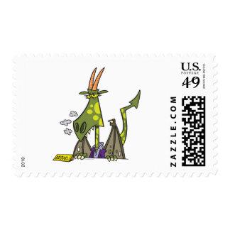 mean dragon lady attitude cartoon stamps