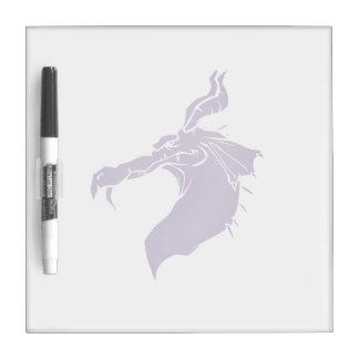 Mean Dragon light purple.png Dry Erase Board