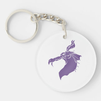 Mean Dragon light purple.png Keychain