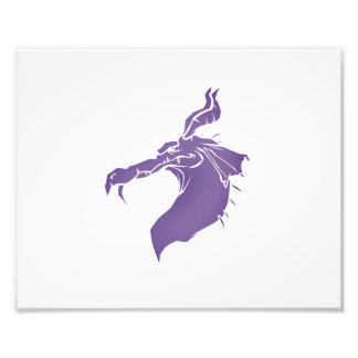 Mean Dragon light purple.png Photo Print