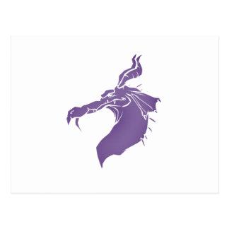 Mean Dragon light purple.png Postcard