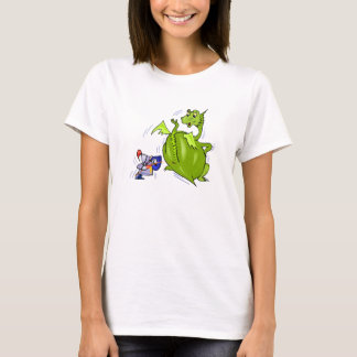 Mean Dragon Poked by Knight T-Shirt