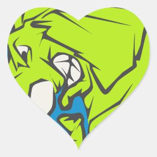 mean elephant heart sticker