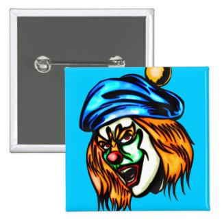 Mean Evil Clown 2 Inch Square Button