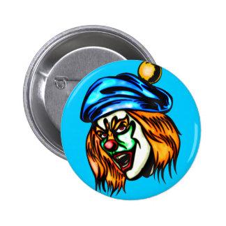 Mean Evil Clown 2 Inch Round Button