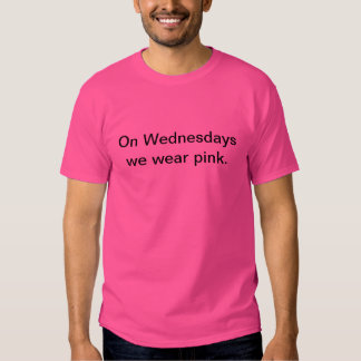 'Mean Girls' Quotes (Wednesdays we wear pink) Shirt