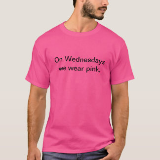 'Mean Girls' Quotes (Wednesdays we wear pink) T-Shirt