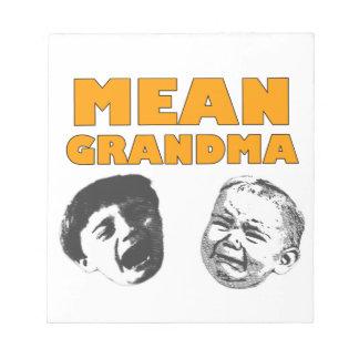 Mean Grandma Memo Pad
