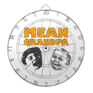 Mean Grandpa Dartboard With Darts