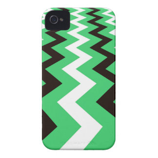 Mean Green and White Fast Lane Chevrons iPhone 4 Case