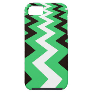 Mean Green and White Fast Lane Chevrons iPhone SE/5/5s Case