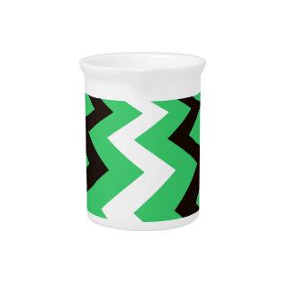 Mean Green Fast Lane Chevrons Beverage Pitcher