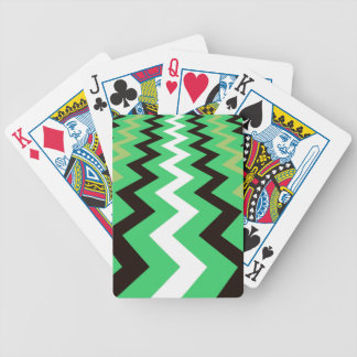 Mean Green Fast Lane Chevrons Bicycle Playing Cards