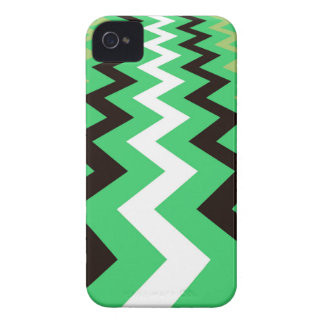 Mean Green Fast Lane Chevrons iPhone 4 Cover