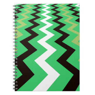 Mean Green Fast Lane Chevrons Notebook
