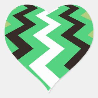 Mean Green Fast Lane Chevrons Heart Sticker