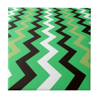 Mean Green Fast Lane Chevrons Tile