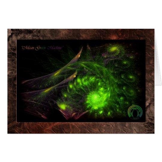 Mean Green Machine-Card Card