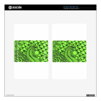 Mean Green Pattern Skins For Kindle Fire