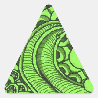 Mean Green Pattern Triangle Sticker