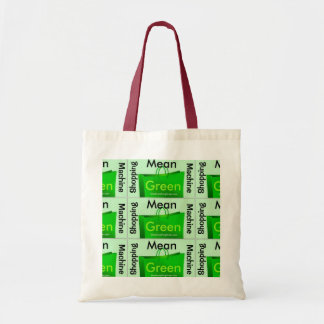 Mean Green Shopping Machine Tote Bags